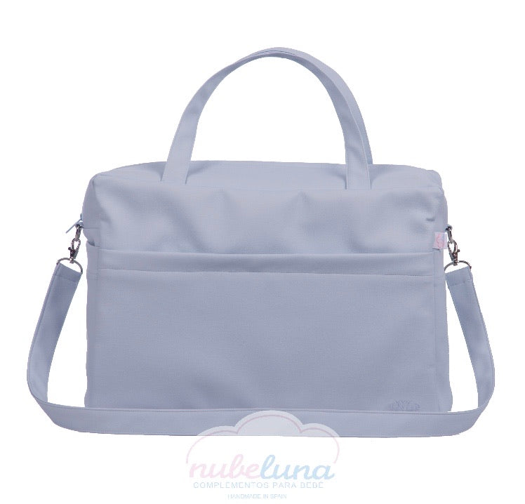 Blue Leatherette Maternity bag