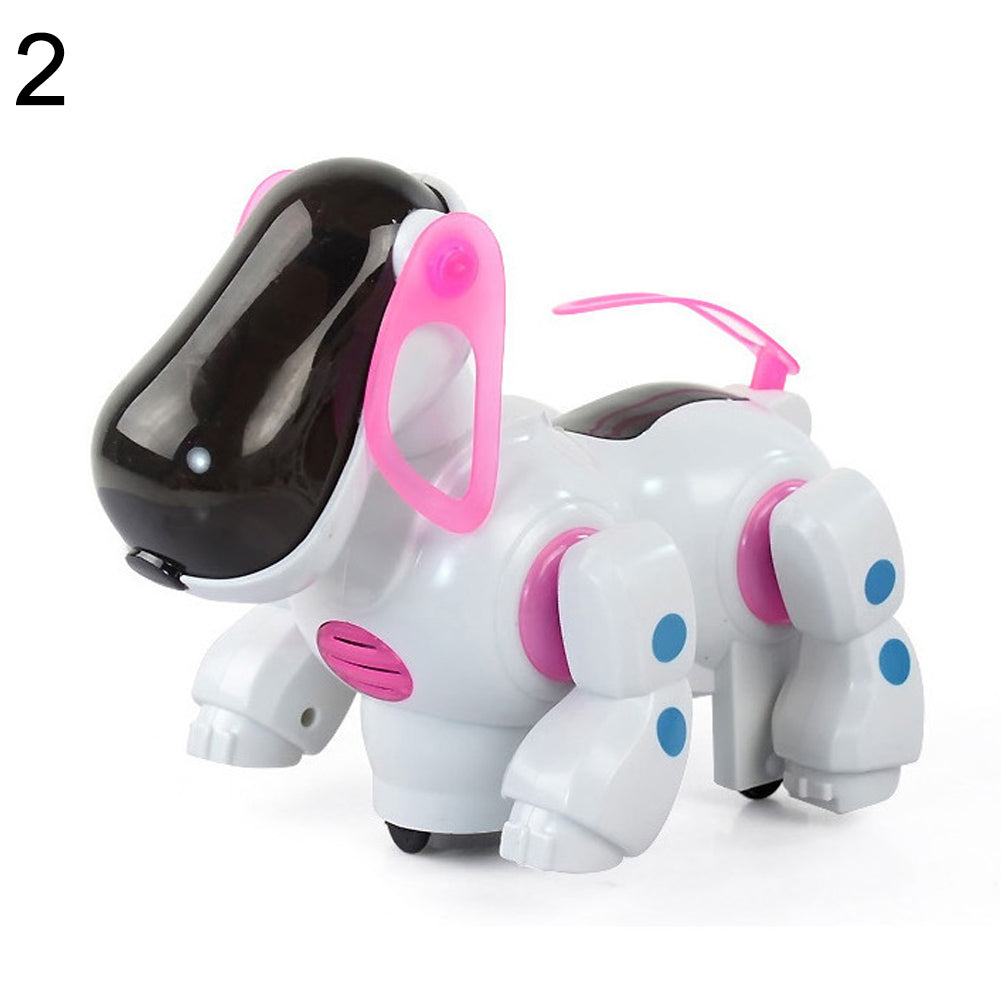 Barking Musical Sounds Walks Dance with Light Electronic Robot Dog Kids Toys