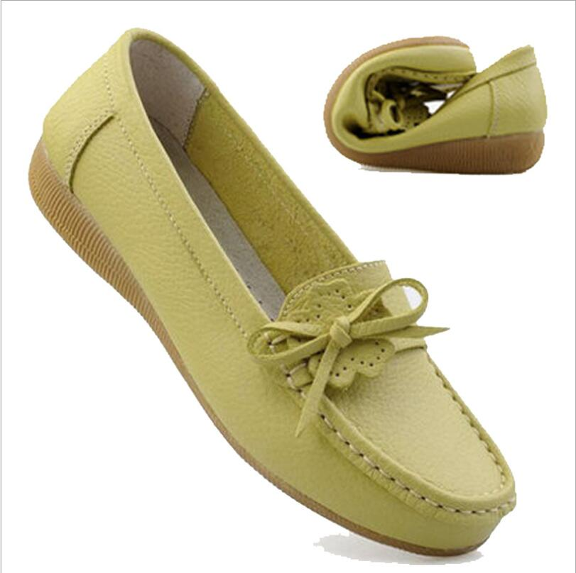 New leather casual non-slip shallow mouth flat bottom women's shoes