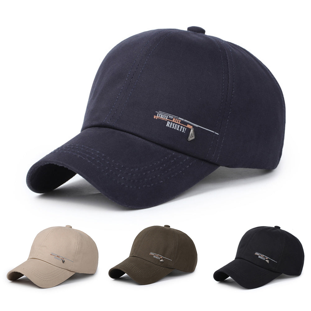 Men Fashion Hip Pop Baseball Cap Autumn  Solid Color Outdoor Sports Baseball Hat