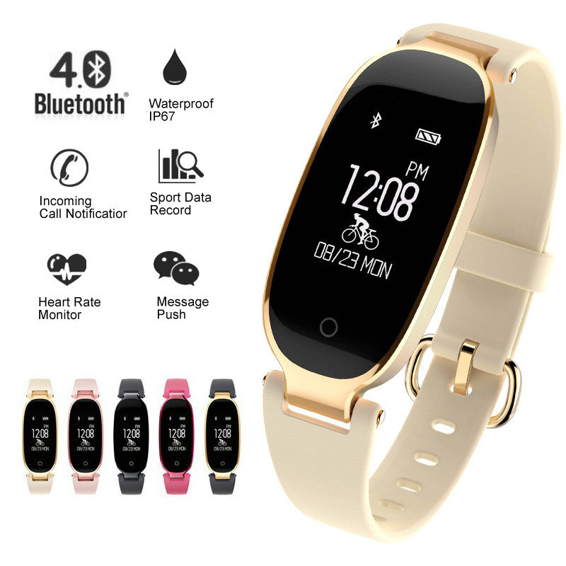 Women Soprt Smart Bracelet Bluetooth Heart Rate Monitor Fitness Tracker Clock Smart Watch for Android IOS
