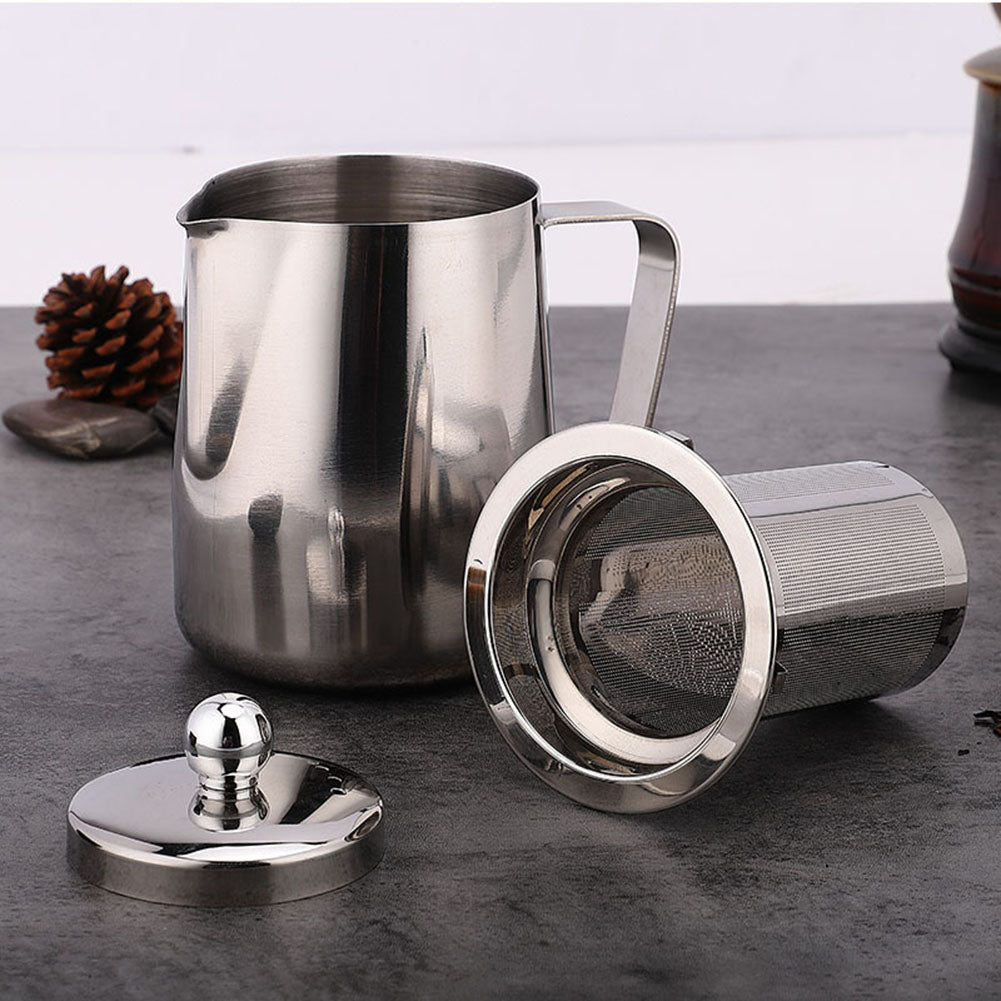 Stainless Steel Tea-Coffee Pot with Removable Filter
