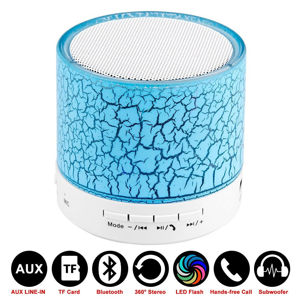 A9 LED Mini Wireless Bluetooth Speaker with Mic TF USB FM Portable Musical Subwoofer Loudspeakers For Iphone Android Phone
