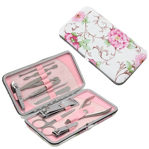 12Pcs Stainless Steel Nail Clipper Nipper Cutter Pedicure Manicure Tools Set