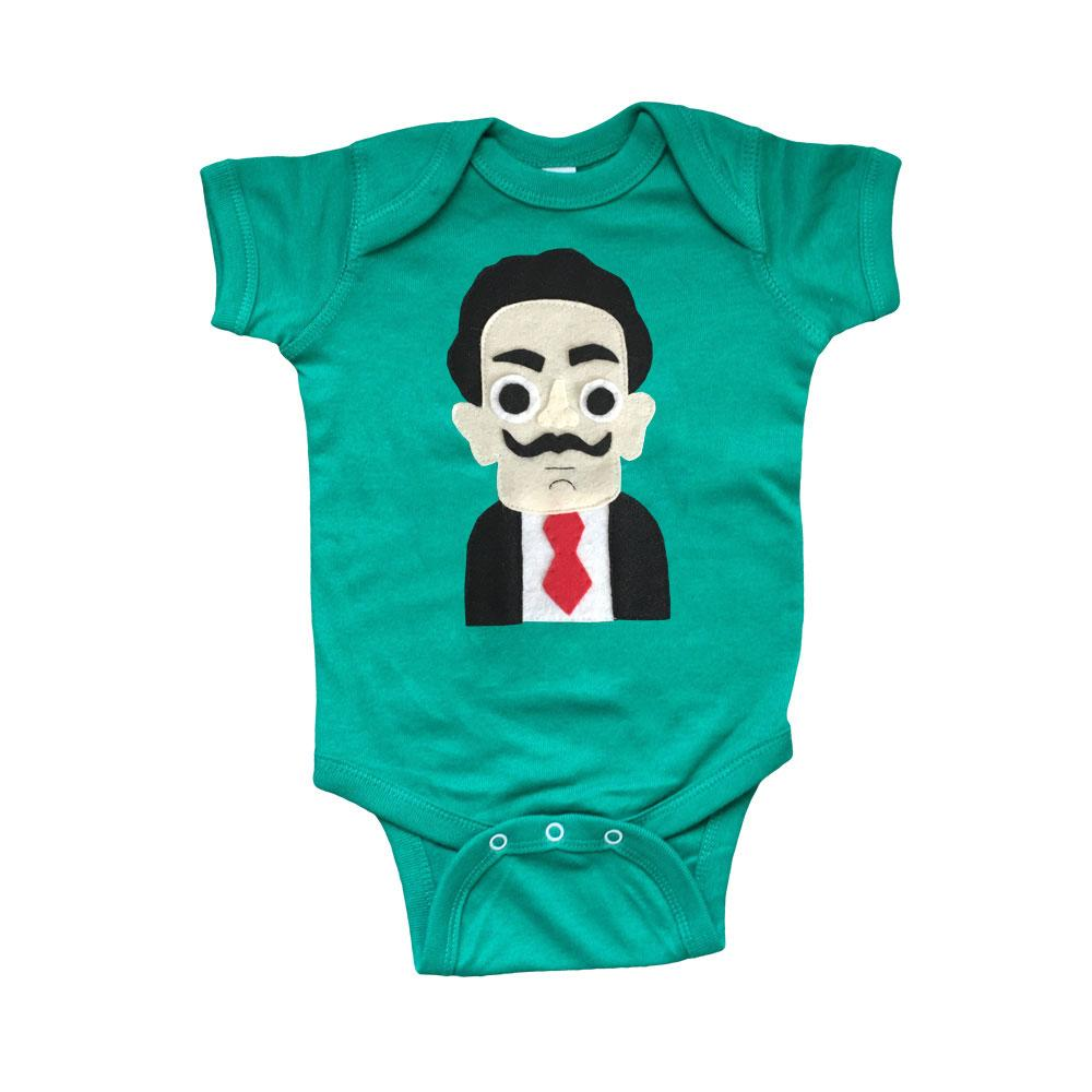 Dali Infant Bodysuit - Kelly Green