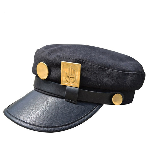 Flat Cap with  Military  Badges