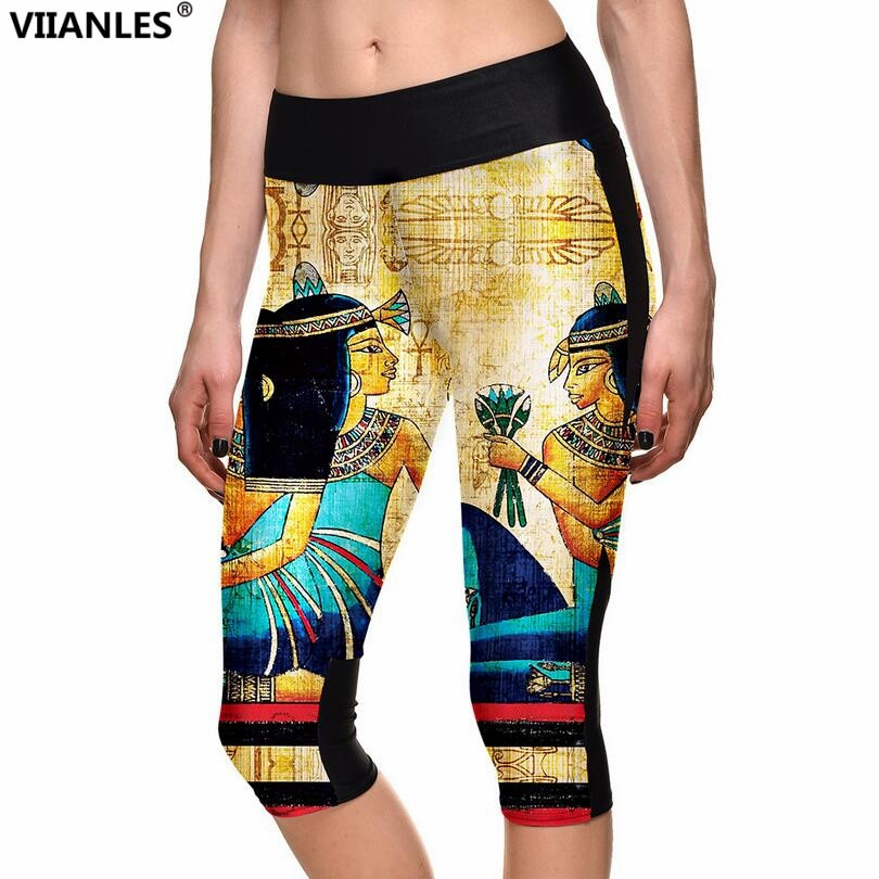 VIIANLES   Printed Summer Highly Elastic Sporting Workout women's Legging pants