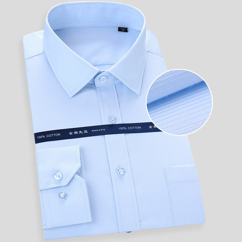 High Quality Non-iron Men's Long Sleeved Dress Shirts
