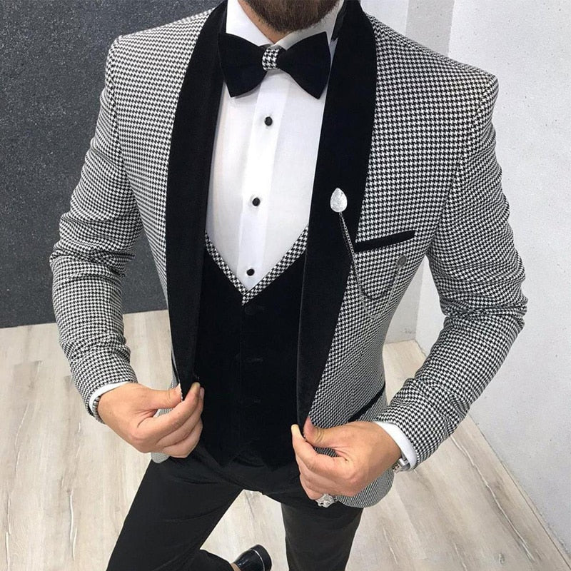 3 Piece Men Suit, Slim Fit