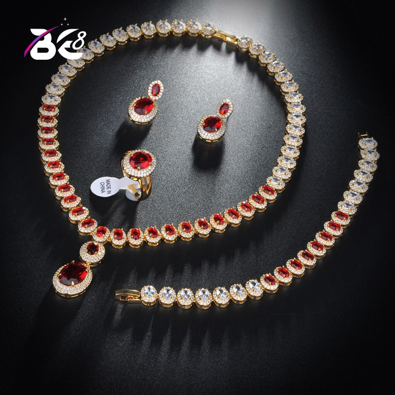 Oval Shape Zirconia Jewelry Sets for Brides