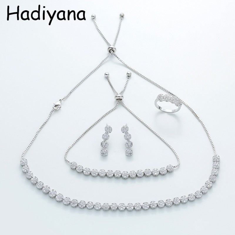 HADIYANA New Ladies Adjustable Chain Choker Sets