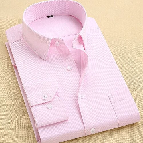 2020 High Quality Men Dress Shirt, Long Sleeve, Slim Brand.