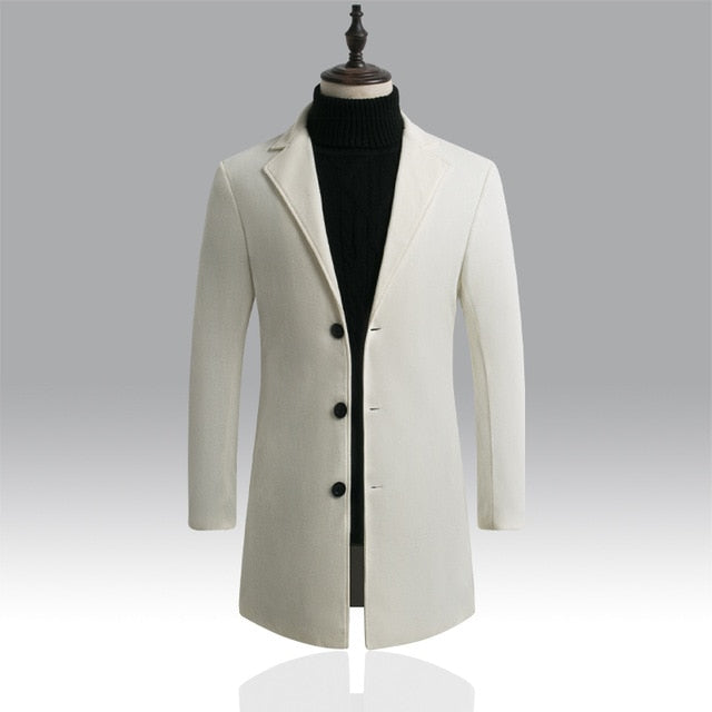 Solid Slim-collar Coat