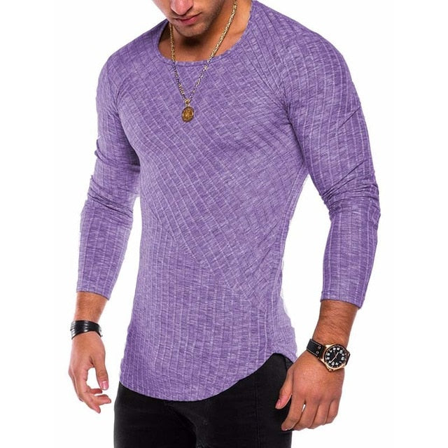 Slim Fit O-Neck Knitted  Sweater