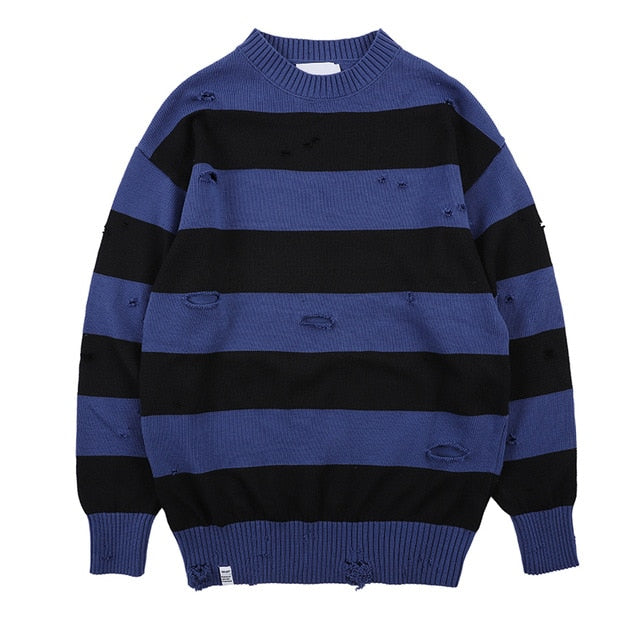 Black Red Striped Sweater