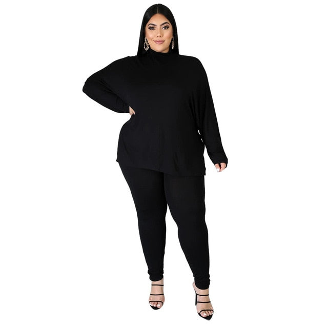 Turtleneck High Stretch Fitness Outfit