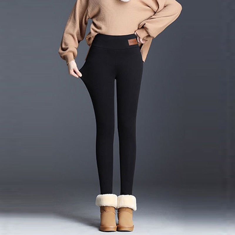 Velvet Warm Pants High Waist Leggings