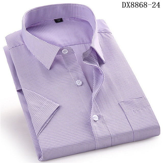 Men's Casual  Short Sleeve Dress Shirts:  Slim Fit