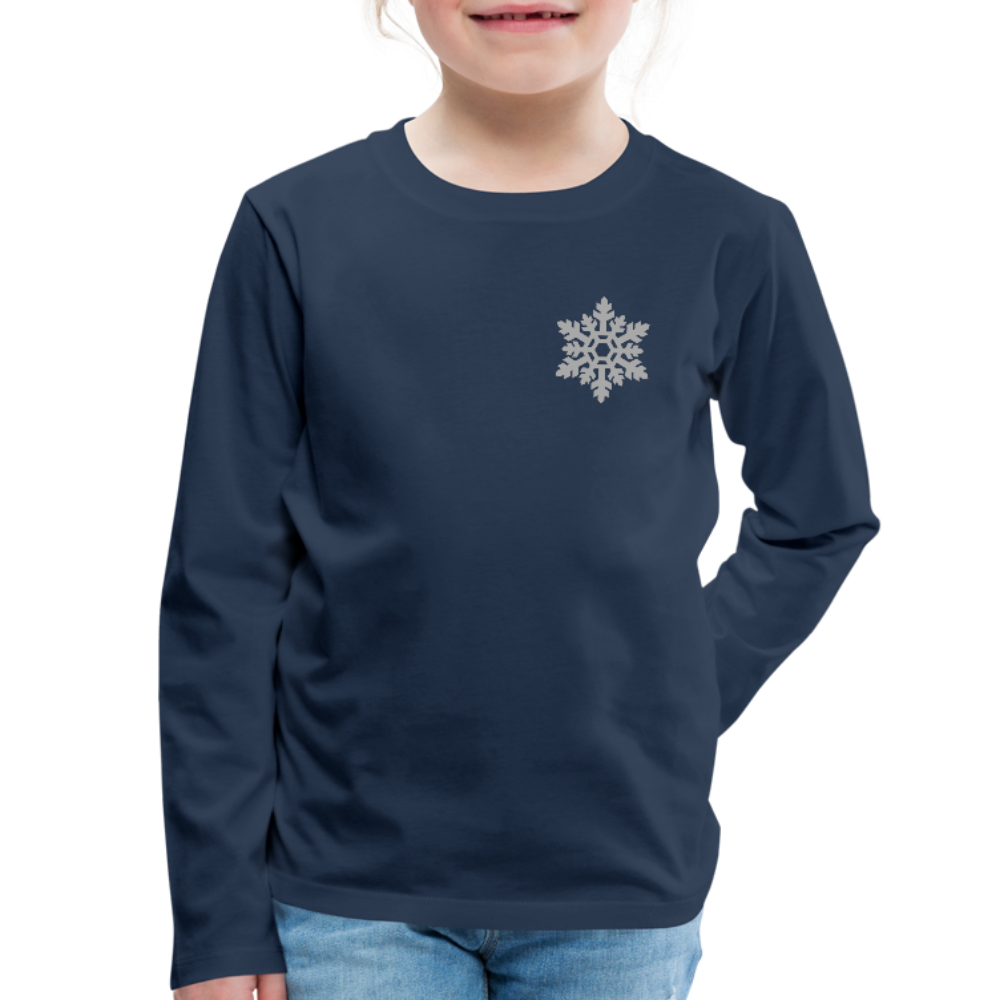 Kids Double Print Let It Snoe Long Sleeve Tee