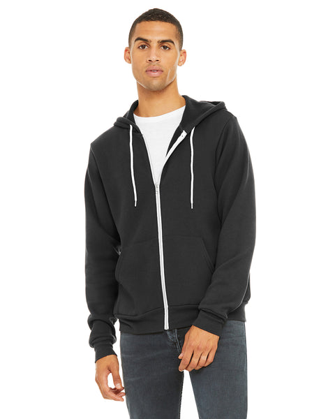 Bella + Canvas Unisex Poly-Cotton Fleece Full-Zip Hooded Sweatshirt 3739