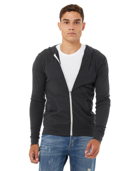 Bella + Canvas Unisex Triblend Full-Zip Lightweight Hoodie