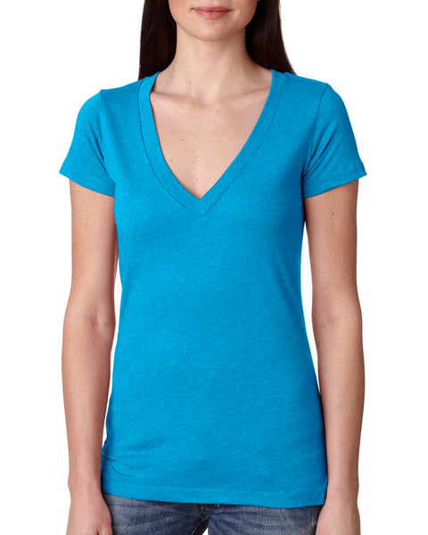 Next Level 6740 Ladies' Triblend Deep V
