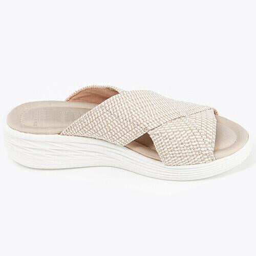 Stretch Cross Orthotic Slide Sandals