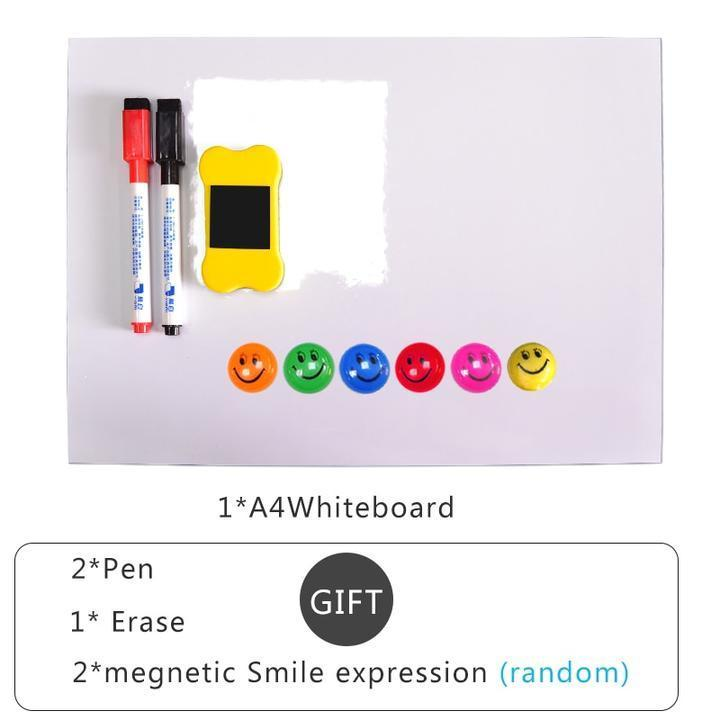 Magnetic refrigerator writing board