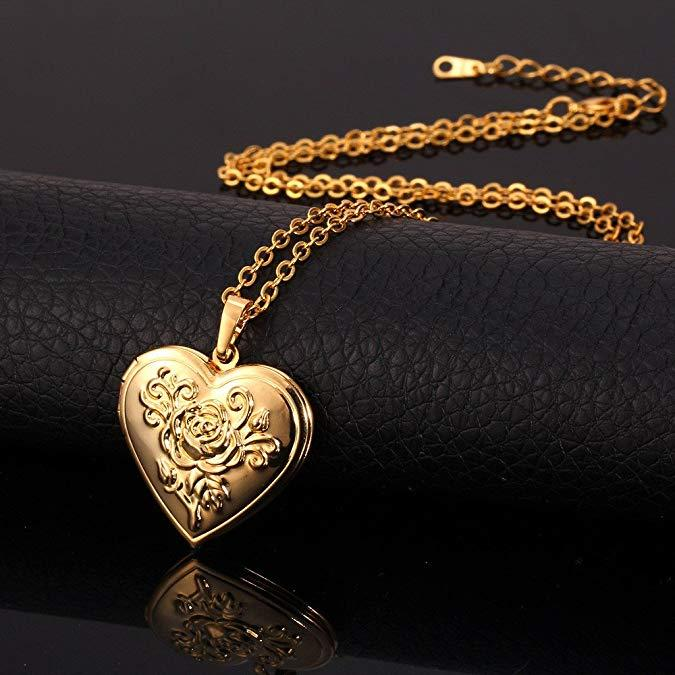 Romantic Heart Locket Gold + Silver