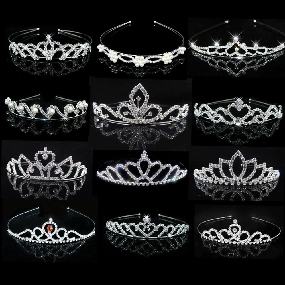 Girls Princess Crystal Tiaras and Crowns