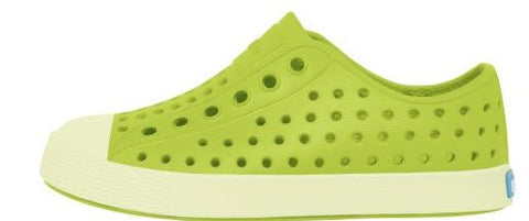 Jefferson Chartreuse Green Glow Native Shoes