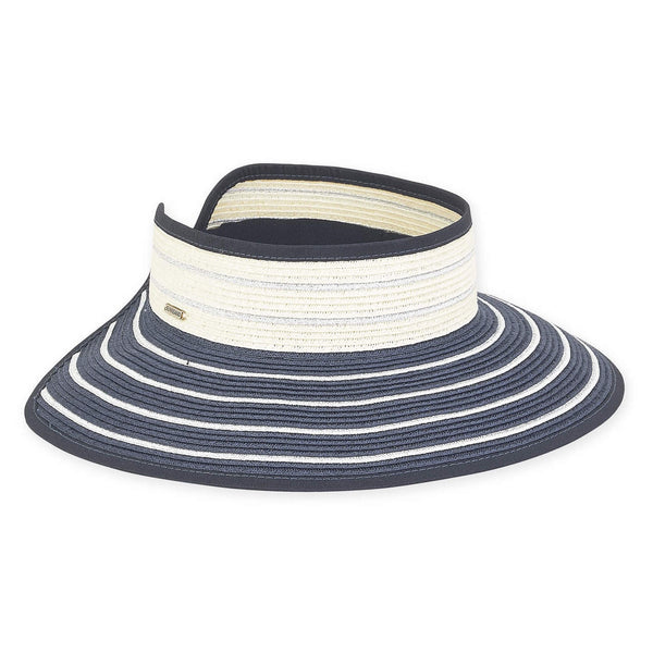 ROLL UP NAVY AND SILVER STRIPE WITH WHITE STRIPE BAND