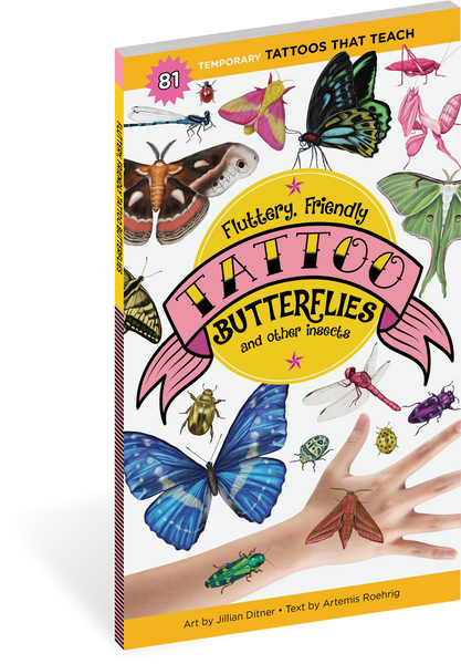 FLUTTERY, FRIENDLY TATTOO BUTTERFLIES AND OTHER INSECTS