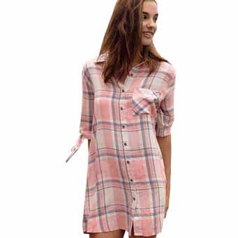 PLAID SPRING TUNIC/DRESS