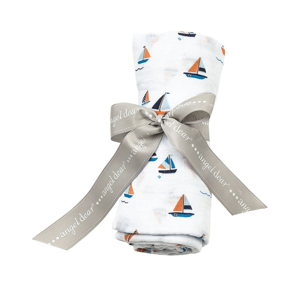 SIMPLE BOATS MUSLIN SWADDLE BLANKET