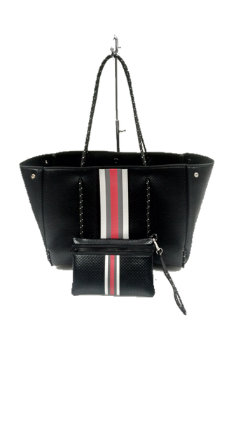 GREYSON TOTE UPTOWN 2 BLACK COATED