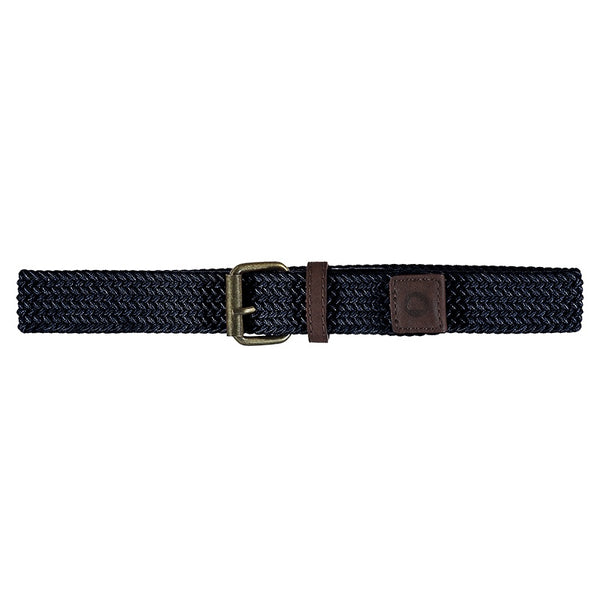 ELASTIC BRAIDED BELT NAVY
