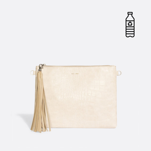 MICHELLE CLUTCH / WHITE CROCK