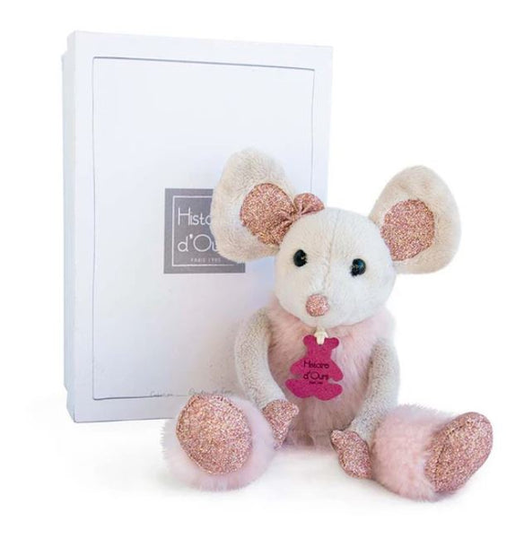 DOUDOU LITTLE TWIST GLITTER STAR MOUSE 9.8""