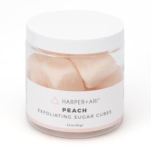 PEACH EXFOLIATING SUGAR CUBES 5.3 OZ JAR