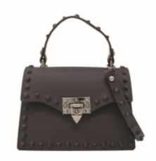 JUMBO JELLY STUD BAG BLACK