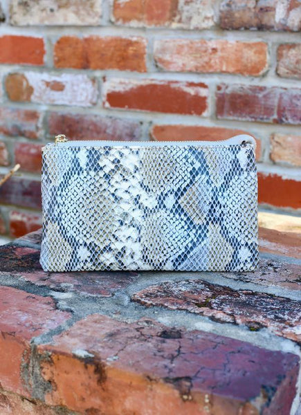 LIZ COLLECTION CROSSBODY BAG SNAKE DENIM
