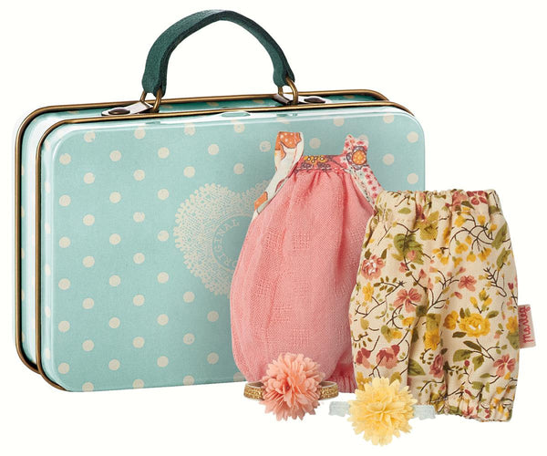 MICRO SUITCASE W/ 2 DRESSES FOR GIRL