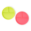 silicone plates, watermelon, lime, set of two, divided plates, gaga for kids,