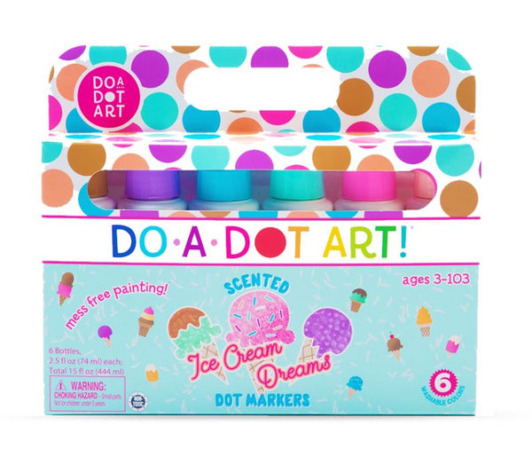 DO A DOT 6 PACK SCENTED ICE CREAM DREAMS MARKERS