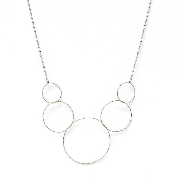 NECKLACE CIRCLES SILVER