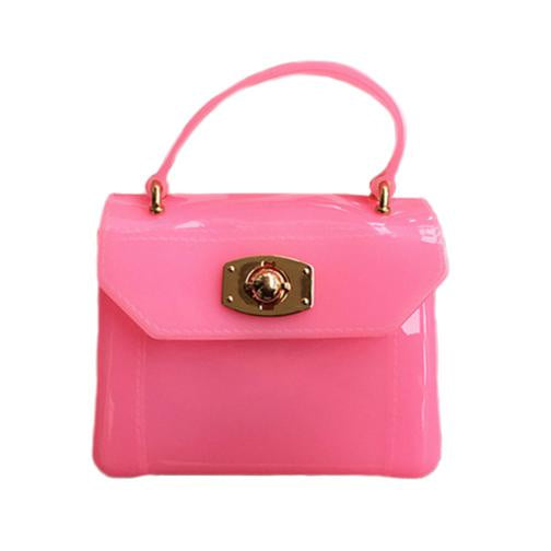 MINI PURSE HOT PINK JELLY BAG