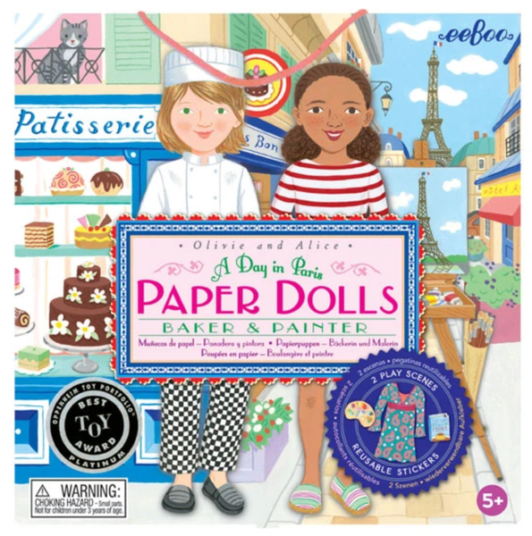 BAKER AND PAINTER PAPER DOLL SET