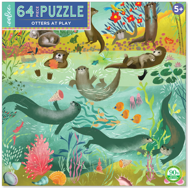 OTTERS AT PLAY 64PC PUZZLE