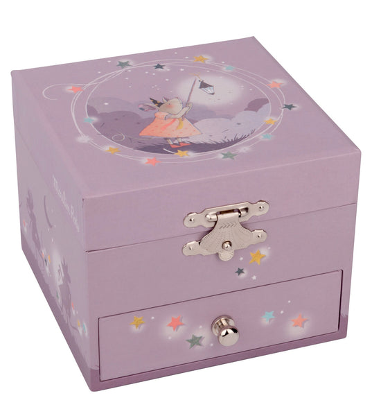music box, spinning mouse, young girls, pastel color. gaga for kids